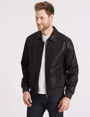 Marks and Spencer Leather Flying Jacket