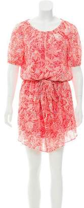 Tory Burch Floral Tie-Accented Dress