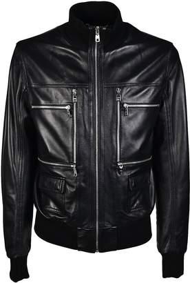 Dolce & Gabbana Zip Detail Bomber Jacket