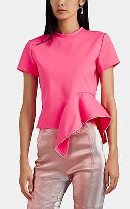 Area Women's Crystal-Embellished Peplum Top - Pink