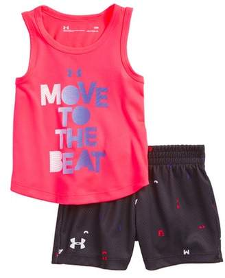Under Armour Move to the Beat HeatGear(R) Tank & Mesh Shorts Set