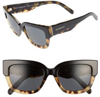 Women's Burberry 53Mm Sunglasses - Black/ Havana
