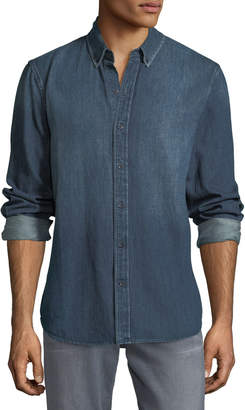 Joe's Jeans Men's Jimmy Long-Sleeve Woven Denim Shirt