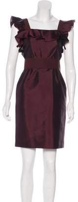 Dolce & Gabbana Ruffle-Trimmed Silk Dress