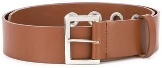 G.V.G.V. silver eyelet mid-width belt