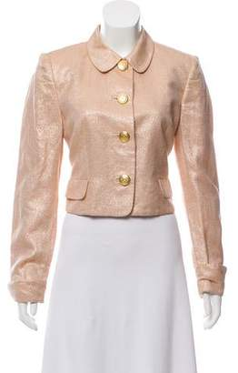 Versus Linen-Blend Metallic Jacket