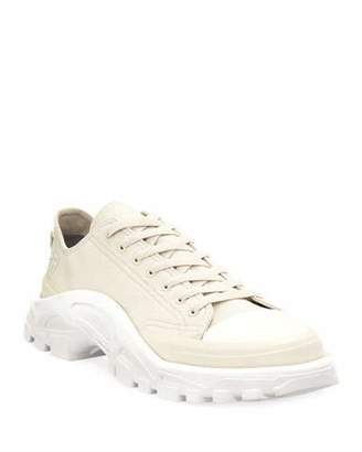 Adidas By Raf Simons Men's Detroit Runner Canvas Sneakers, White