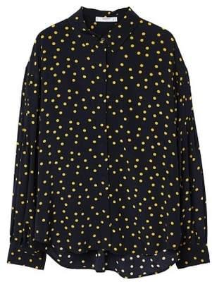 MANGO Polka-dot print blouse