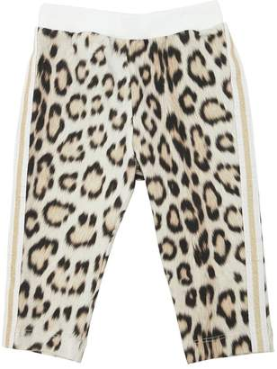 Roberto Cavalli Leopard Print Cotton Sweatpants
