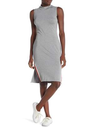 Socialite Mock Neck Rib Dress