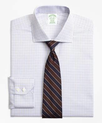 Brooks Brothers Milano Slim-Fit Dress Shirt, Non-Iron Triple Overcheck