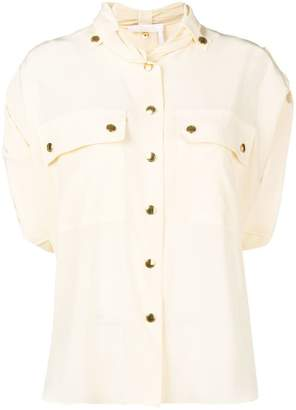 Chloé draped shirt with gold buttons