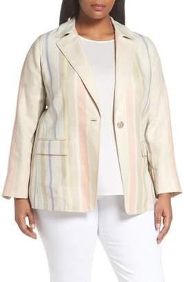 Lafayette 148 New York Marie Stripe Linen Jacket