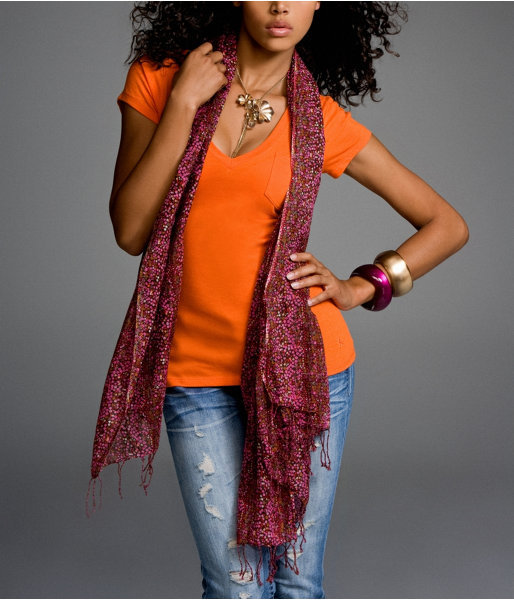 Wide Floral Scarf