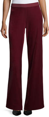 Joan Vass Velvet Wide-Leg Pants, Plus Size