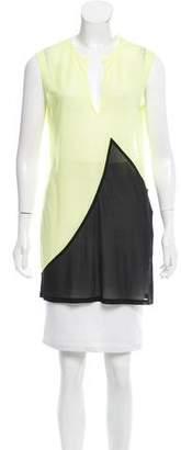 Celine Semi-Sheer Colorblock Top w/ Tags