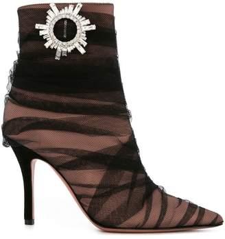 Amina (アミナ) - Amina Muaddi tessa crystal-embellished ankle boots