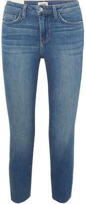 L'Agence El Matador Cropped Mid-rise Skinny Jeans - Mid denim