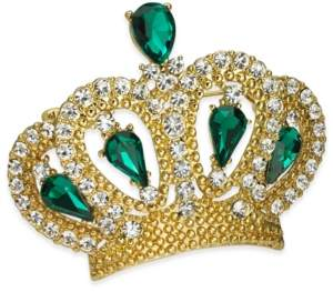 Charter Club Gold-Tone Crystal Crown Pin, Created for Macy's