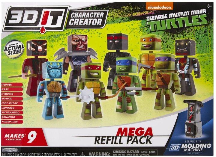3DIT Character Creator Teenage Mutant Ninja Turtles Mega Refill Wave 1 Toy Figure