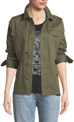 Zadig & Voltaire Kayak Military Patchwork Jacket