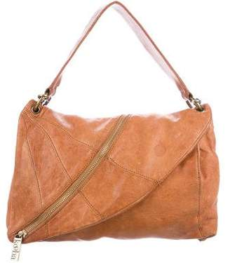 Kooba Leather Halle Asymmetrical Zipper Shoulder Bag