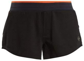 The Upside Midnight Honeycomb Jersey Performance Shorts - Womens - Black