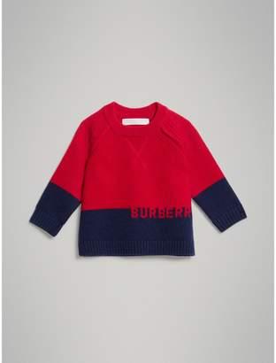Burberry Logo Intarsia Cashmere Sweater