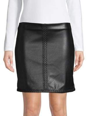 INC International Concepts Petite Whipstitch Mini Skirt