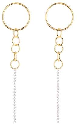 Argentovivo Post Circle Chain Drop Earrings