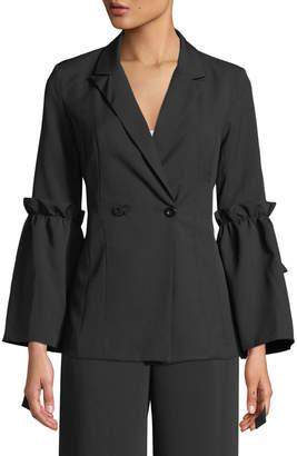 Madisonne Bow-Sleeve Blazer Jacket