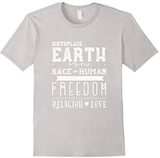 The Human Race Politics Religion Love T-Shirt