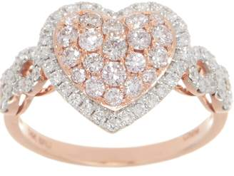 Affinity Diamond Jewelry Affinity Diamond Natural Pink Heart Ring, 1.00cttw, 14K