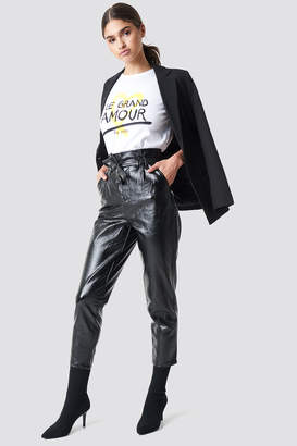 Na Kd Party Paperwaist Patent Leather Pants