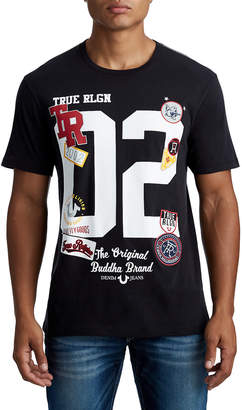 True Religion MENS VARSITY LETTERS AND PATCHES GRAPHIC TEE