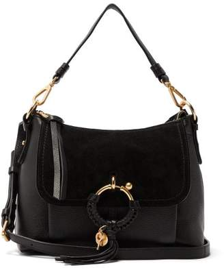 See by Chloe Joan Small Suede And Leather Shoulder Bag - Womens - Black