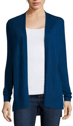 ST. JOHN'S BAY Long-Sleeve Ribbed Flyaway Cardigan Sweater