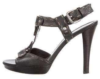 Fendi Leather Platform Sandals