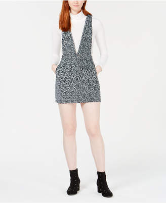 T.d.c. by Topson Cotton Printed Corduroy Overall Dress