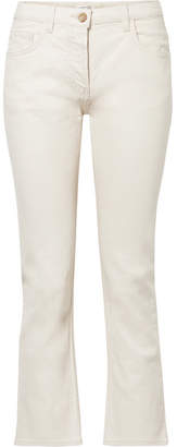 The Row Ashland Cropped Mid-rise Straight-leg Jeans - Cream