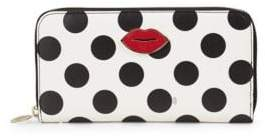 Charlotte Olympia Polka-Dot Leather Wallet