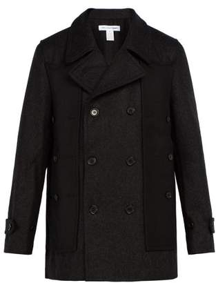 Comme des Garcons Double Breasted Wool Coat - Mens - Black Grey