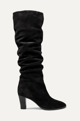 Vince Casper Suede Knee Boots - Black