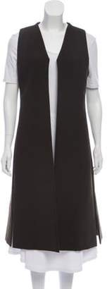 Givenchy Long Sleeveless Vest Green Long Sleeveless Vest