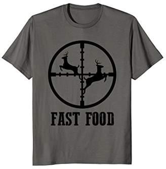 Hunter Deer Hunting Funny Fast Food Gift T-shirt Tee