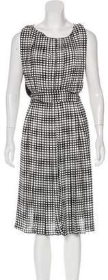 L'Agence Printed Midi Dress w/ Tags