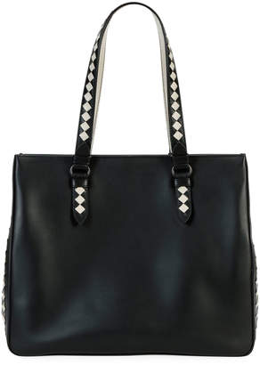 Bottega Veneta Calf Leather Gusset Tote Bag