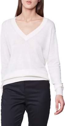 Reiss Wool & Linen V-Neck Sweater