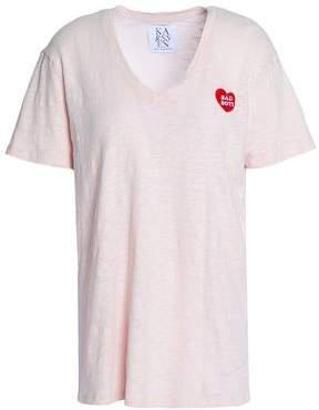 Zoe Karssen Embroidered Cotton-Jersey T-Shirt