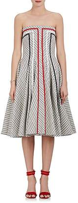 Thom Browne WOMEN'S COTTON-BLEND TWEED STRAPLESS FIT & FLARE DRESS